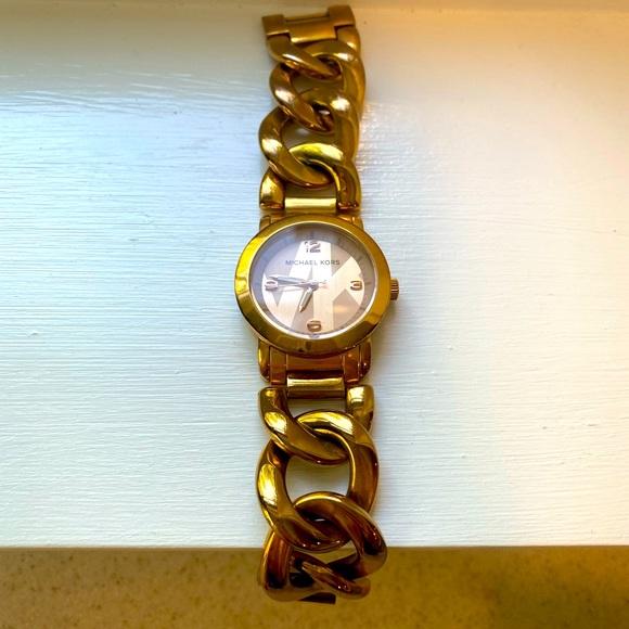 Michael Kors gold link wrist watch